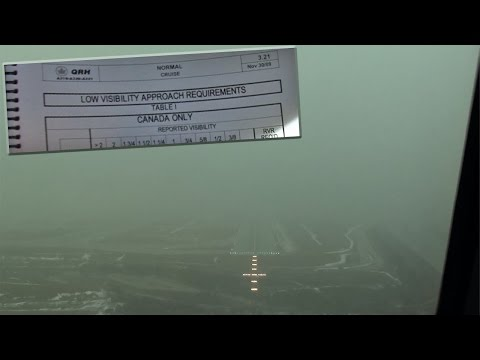 Low Visibility Planning - A319 Into Toronto