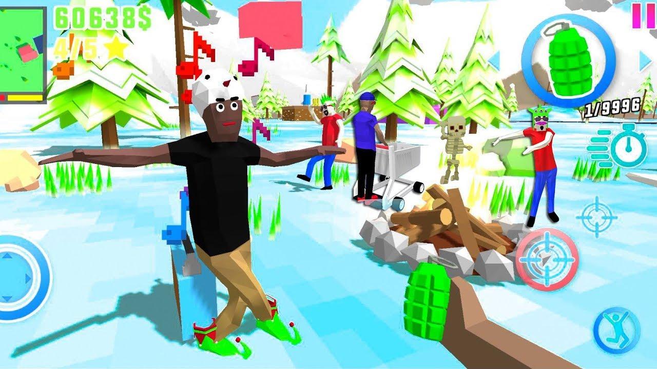Dude Theft Wars Open World Sandbox Simulator BETA #18 - Android gameplay
