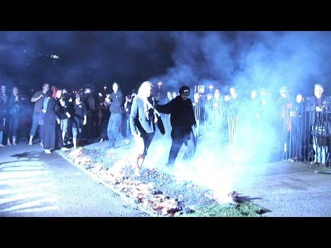 Firewalk at Brooklands Museum with Surrey Care Trust