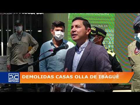 Dos viviendas demolidas en el barrio Eduardo Santos que eran usadas para la venta de droga