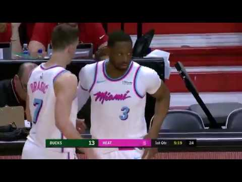 Dwyane Wade Checks in for First Time in Return to Miami Heat