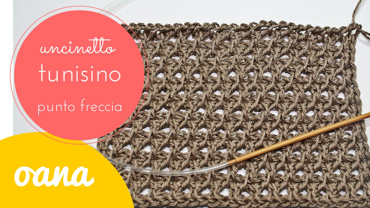 Uncinetto Tunisino Punto Freccia By Oana Youtube