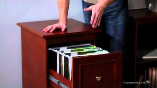 Belham Living Hampton Two Drawer Filing Cabinet - Cherry