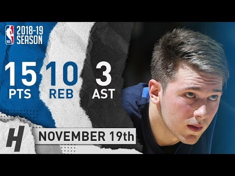 Luka Doncic Full Highlights Mavericks vs Grizzlies 2018.11.19 - 15 Pts, 3 Ast, 10 Rebounds!