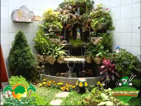 Cascadas grutas de agua piletas villa grass youtube for Fuentes estanques para jardin