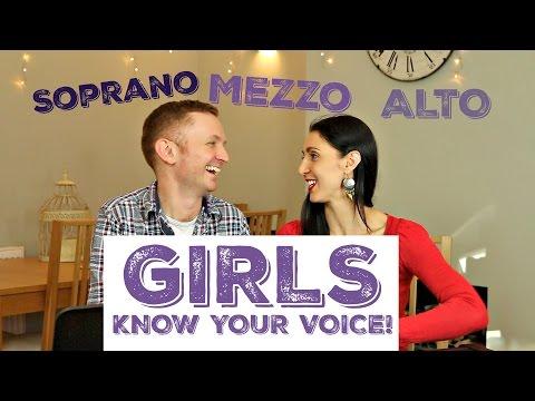 Female Voice Classification - Are you a SOPRANO, MEZZO or ALTO singer?