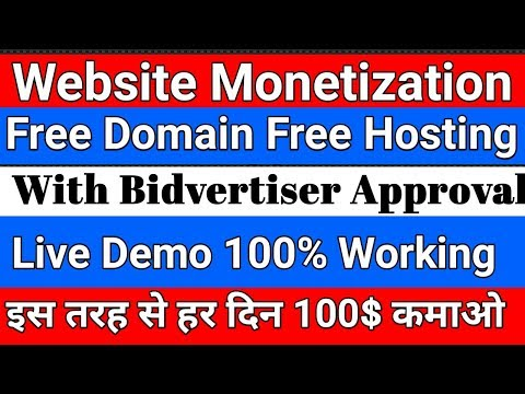 How To Get Free Domain Name For Lifetime For Your Website !! With Verify Bidvertiser Live demo - 동영상