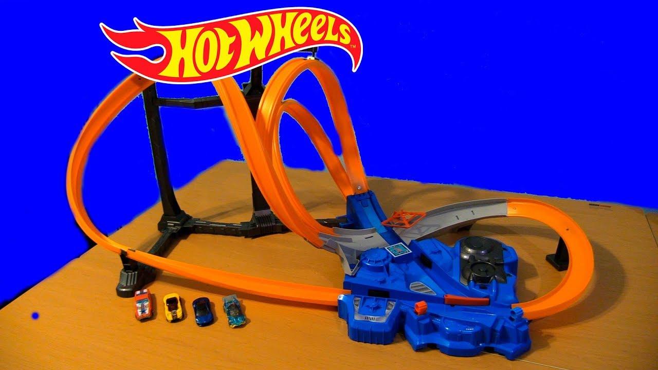 Hot Wheels Mega Pista De Triple Giro Triple Track Twister Unboxing