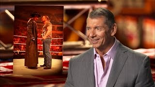 Mr. McMahon talks about the art of silence between Triple H and The Undertaker