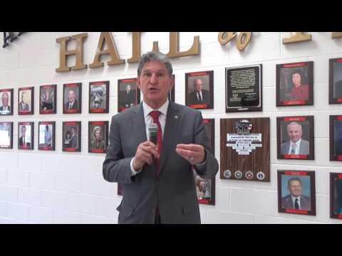 Senator Joe Manchin at Bridgeport High School