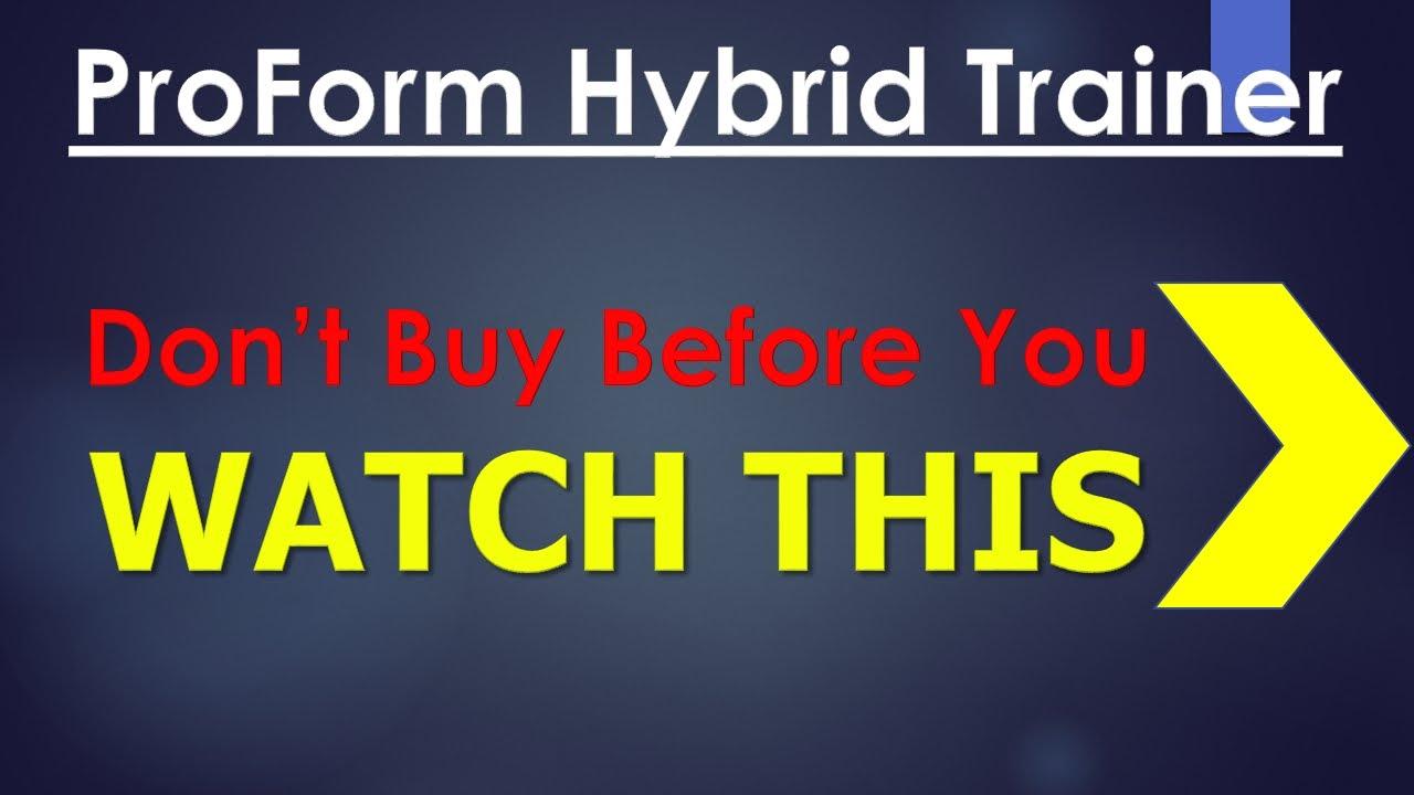 Proform hybrid trainer proform hybrid reviews proform for Proform hybrid trainer