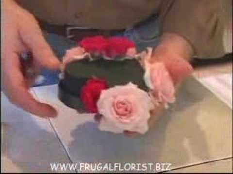 The Frugal Florist making Heart Box