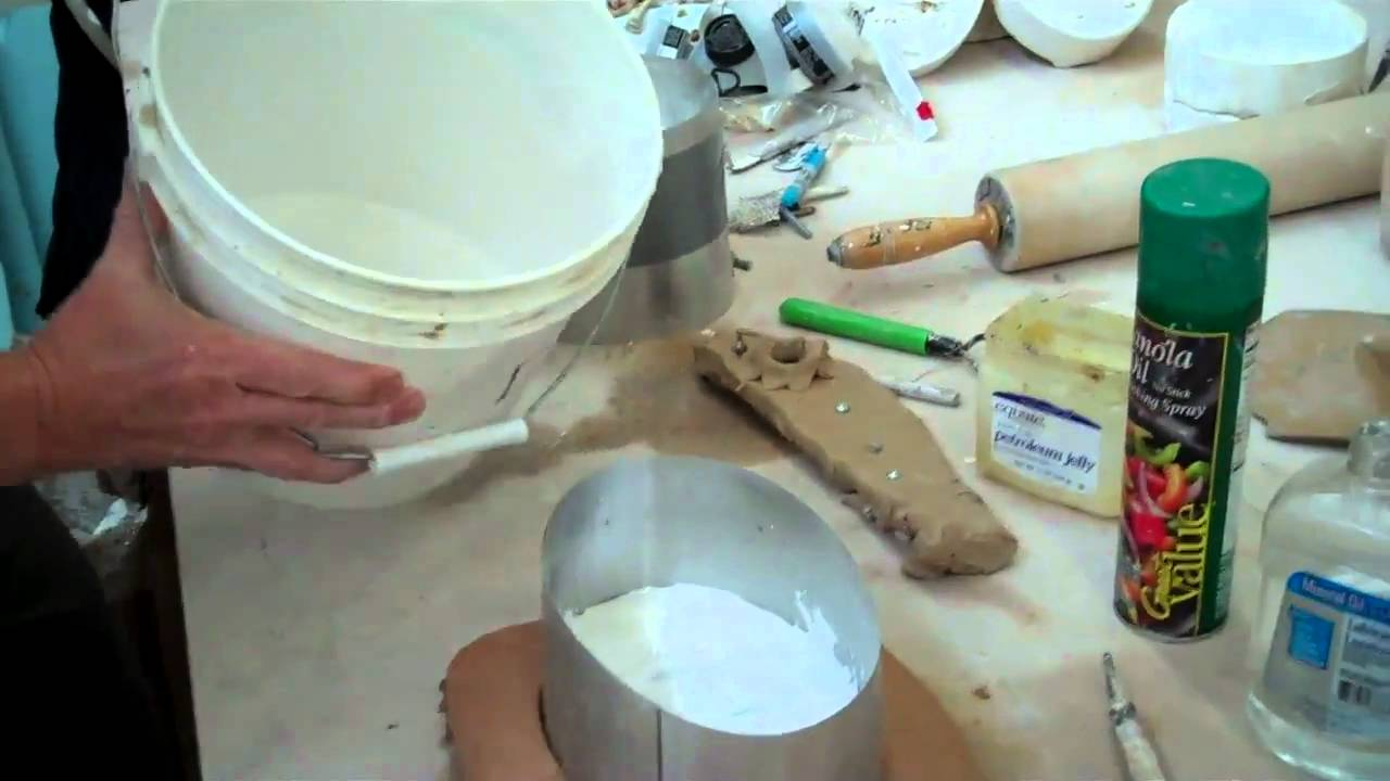 Making a two piece plaster mold