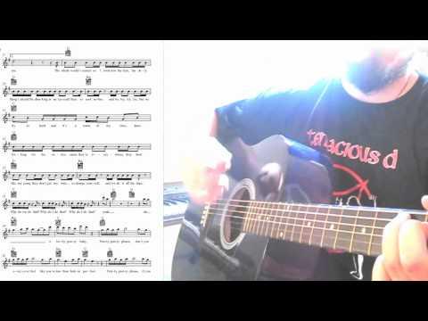 PINK - fuckin perfect on acoustic guitar [with Lyrics / TAB / Sheet Music]
