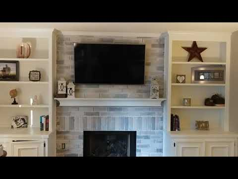The $20 Whitewash Brick Fireplace With Depth - Easy DIY Project
