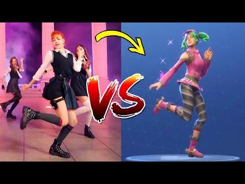 K-Pop VS. FORTNITE ¿What's Your Favorite? | Dance Challenge BTS BLACKPINK TWICE
