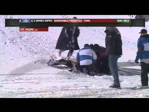 Caleb Moore - Snowmobile Fatal Accident Winter X-Games 2013