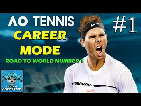 Let's Play AO Tennis | Road to World Number 1 Career Mode 01: OUR FIRST MATCH! | PS4 Gameplay
