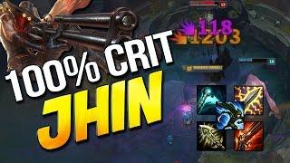 100% CRIT JHIN ADC - ft Foxdrop + Huzz (League of Legends)
