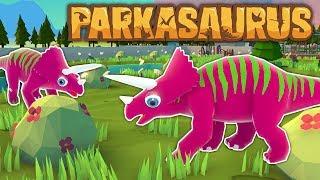 NEW DINOSAUR THEME PARK GAME! - Parkasaurus Gameplay - Dino Park Management Tycoon Game