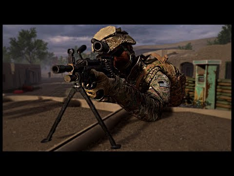 US FOB DEFENSE! Close Quarter Compound Combat - Squad Ops Gameplay