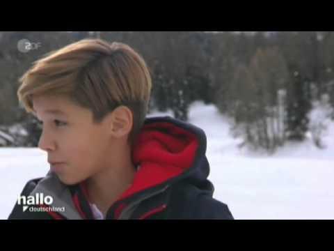 Snow Golf mit Fam. Pooth in St. Moritz 2015