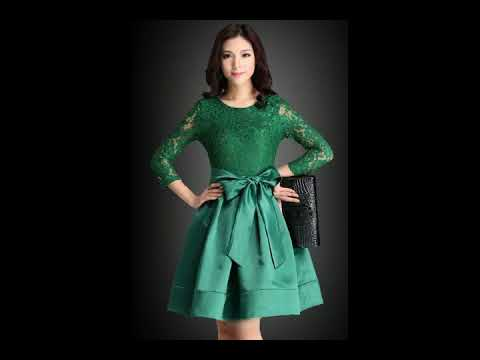 Model Dress Kebaya Panjang Pendek Modern Terupdate 2018 Youtube
