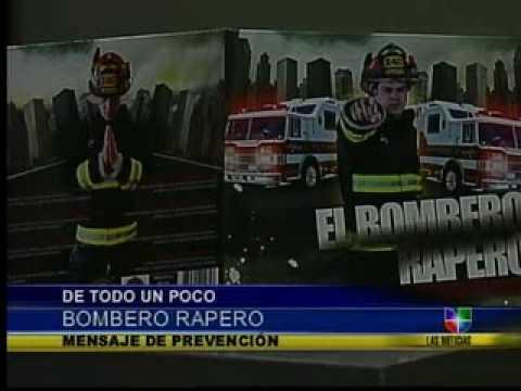 El Bombero Rapero en Las Noticias Univision