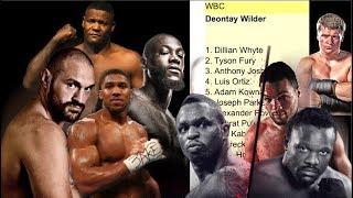 NEW WBC TOP 15 HEAVYWEIGHT BOXING RANKINGS LIST!!