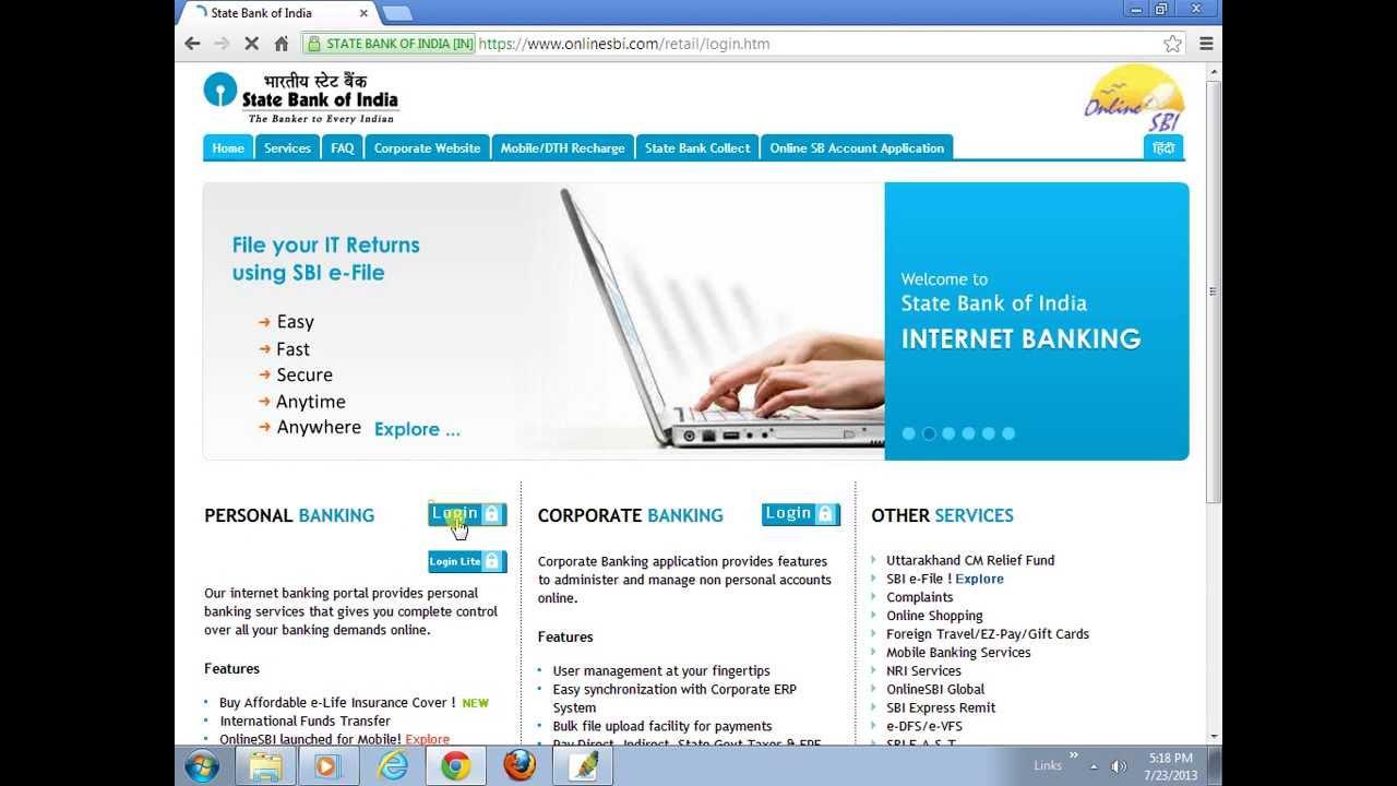 transfer money from sbi net banking