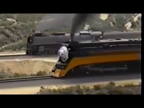 4449 & 8444 (844) Race up Cajon Pass 1989 - All Aerial Video. Read Description, Tap Here  —}