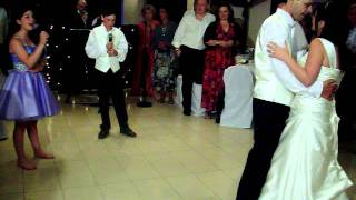 My kids decided to sing our first dance at our wedding....bless them