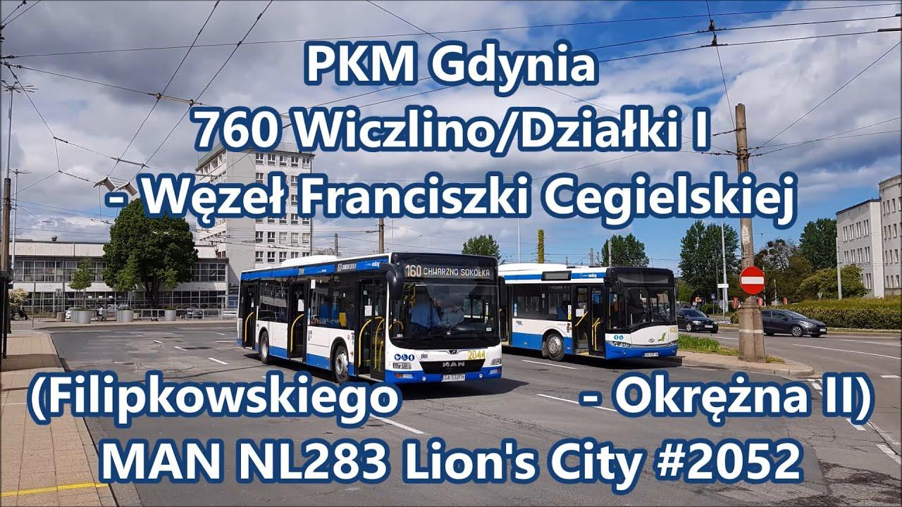 PKM Gdynia - MAN NL283 Lion's City #2052, linia 760