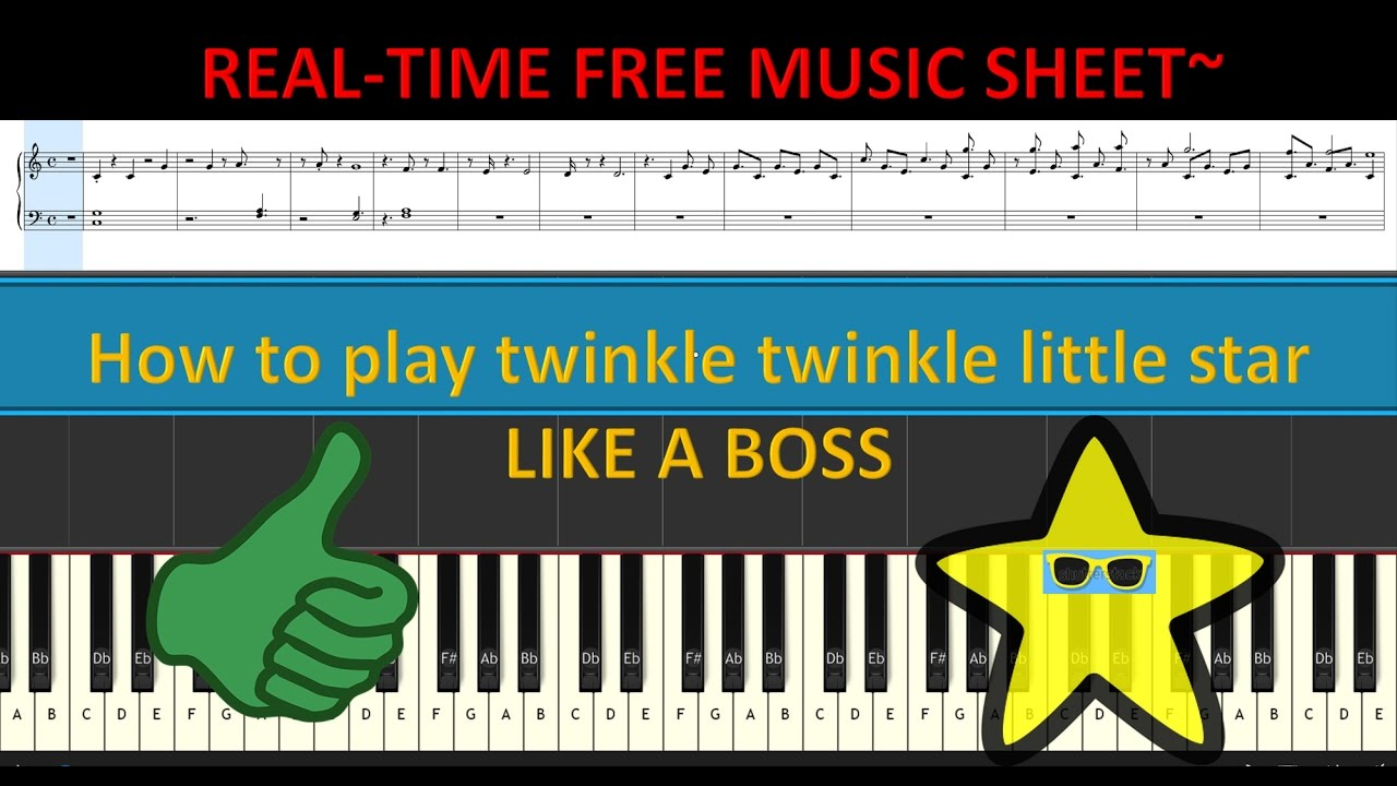 How to play twinkle twinkle little star on piano like a boss youtube how to play twinkle twinkle little star on piano like a boss hexwebz Gallery