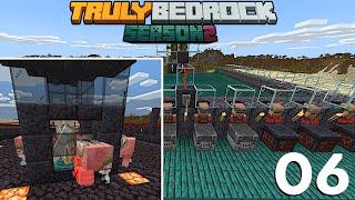 Iron Farm | Golem Death Via Zoglins | Truly Bedrock S2 Ep06