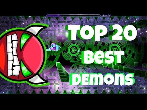 Top 20 Best Demons Levels In Geometry Dash