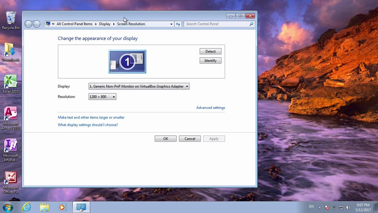 Cách sử dụng windows 7 #20   Thay đổi độ phân giải trong màn hình