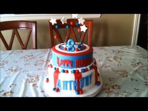 The Avengers Captain America Superhero Theme Cake
