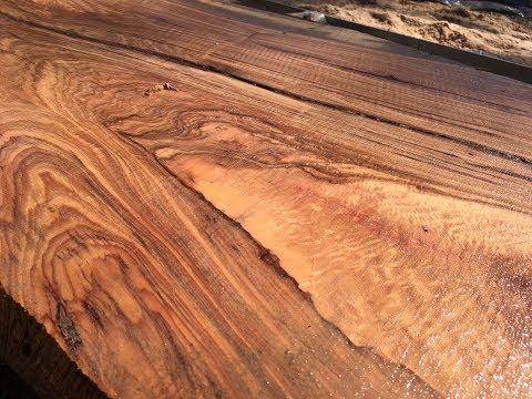 BEAUTIFUL Hickory Crotch Wood on the Wood Mizer LT10!