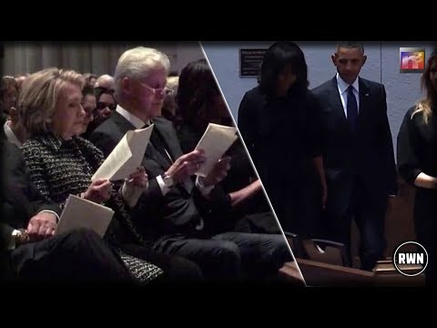 Melania Sat Next To The Obamas, Clintons For Barbara Bush's Funeral – What She Did Was Stunning