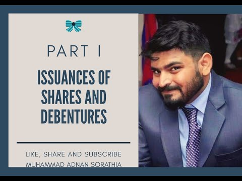 Company Accounts- Issuance Of Shares And Debentures Lecture I Urdu/Hindi By Mohammad Adnan Sorathia