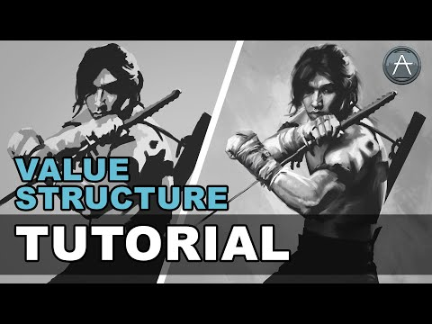 Value Structure Tutorial | Digital Painting Study