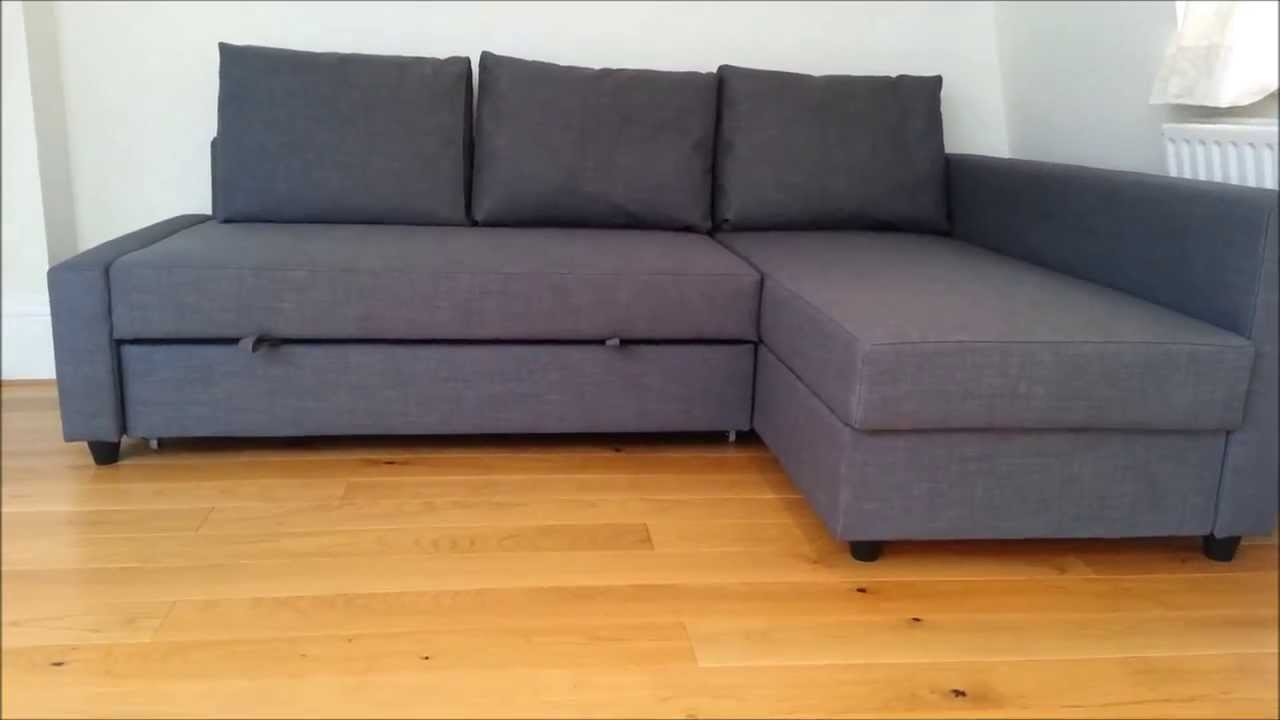Schlafsofa ikea grau  IKEA Sofa Bed - YouTube
