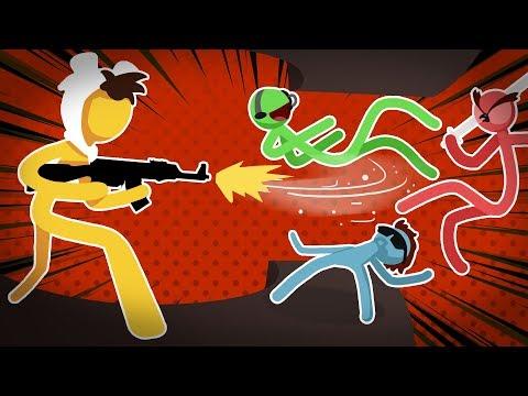 Stick Fight Funny Moments - Vanoss Vs Moo Vs Nogla Vs Basically!!