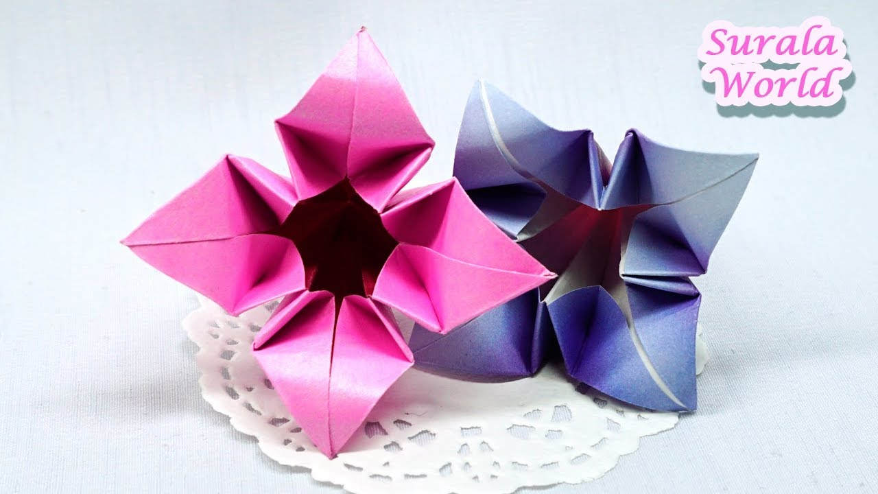 origami flower lily - YouTube | 720x1280