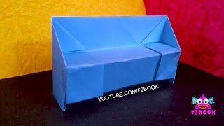 origami sofa set -  How To Make Paper Sofa Craft work Origami - F2BOOK  Video 96
