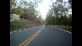 Bergen County Bombers - skateboarder goes beyond 60 mph on a longboard - club raw!