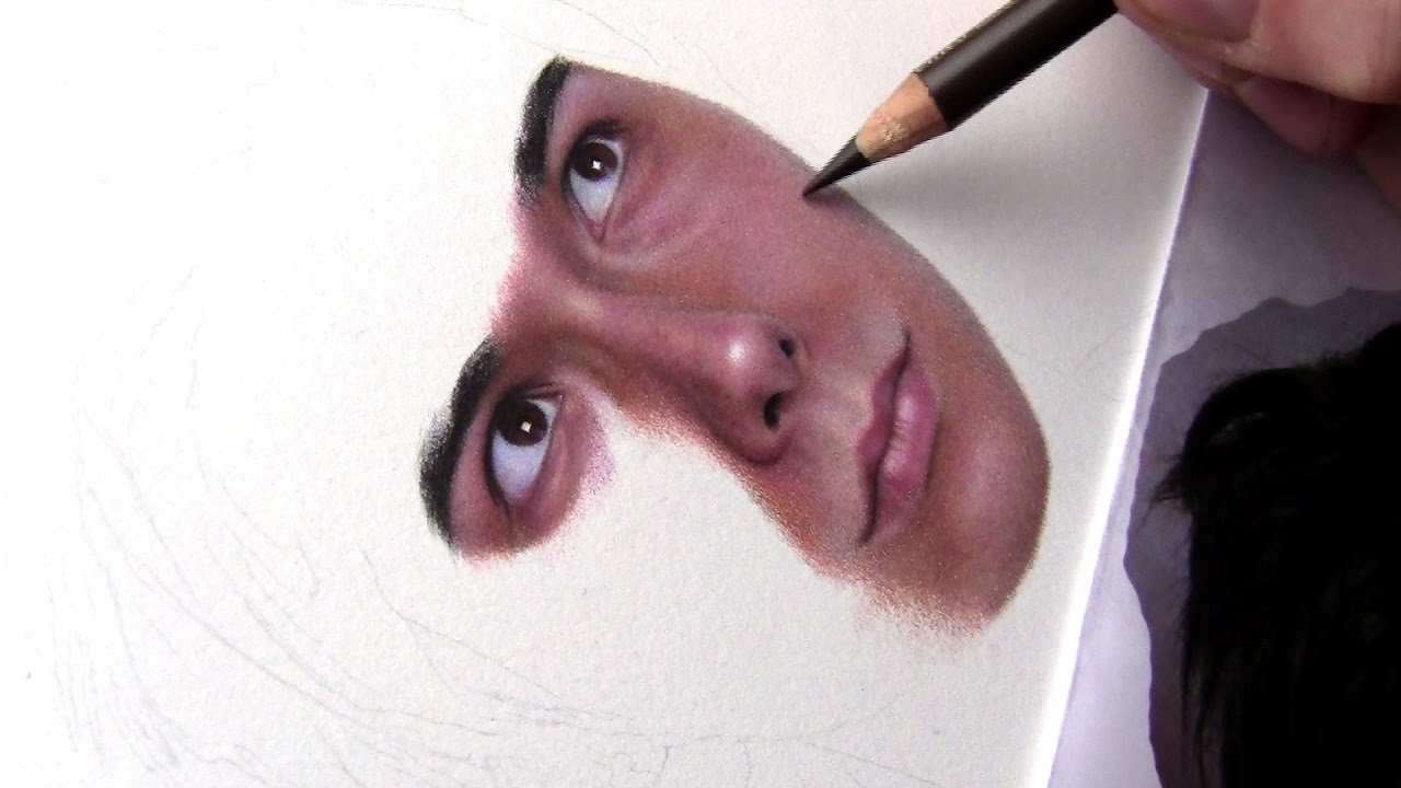Drawing Facial Features With Colored Pencil YouTube