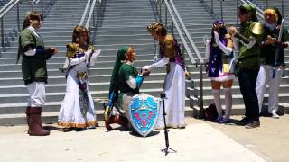 Link Proposes to Zelda at Anime Expo 2015!