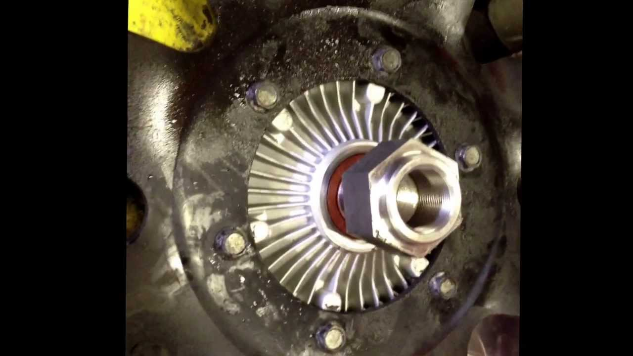 How to change out fan clutch international dt466e or dt466 without removing radiator youtube